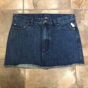 NWT Free People Dark Blue Wash Denim Skirt 6